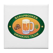 Scrapbooker Team Tile Coaster