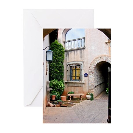 Cobblestoned Courtyard Greeting Cards (Pk of 10)