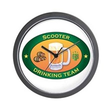 Scooter Team Wall Clock