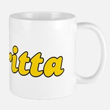 Retro Britta (Gold) Mug