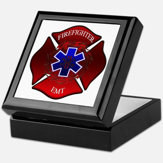 FIREFIGHTER-EMT Keepsake Box