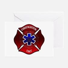 FIREFIGHTER-EMT Greeting Cards (Pk of 10)