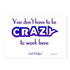CRAZY (work) Postcards (Package of 8)