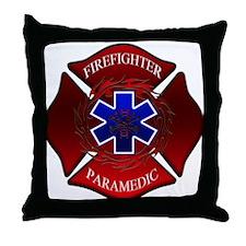 FIREFIGHTER-PARAMEDIC Throw Pillow