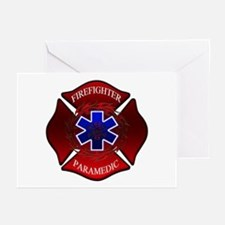 FIREFIGHTER-PARAMEDIC Greeting Cards (Package of