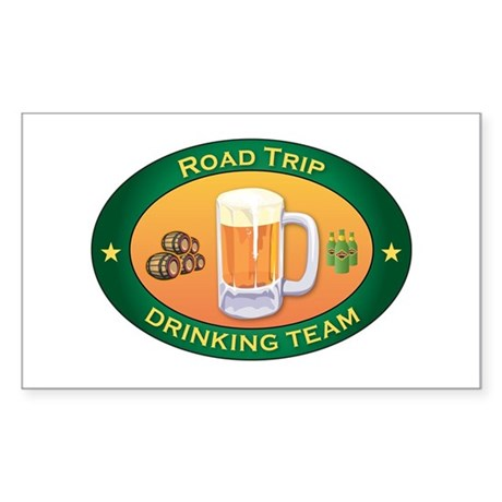 Road Trip Team Rectangle Sticker