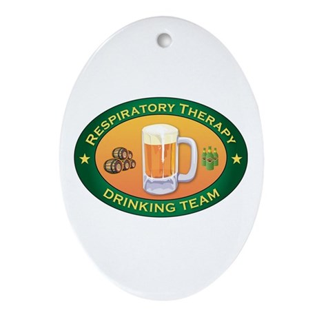 Respiratory Therapy Team Oval Ornament