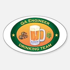QA Engineer Team Oval Decal