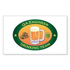 QA Engineer Team Rectangle Decal