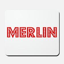 Retro Merlin (Red) Mousepad