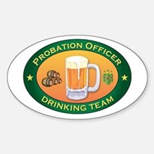 Probation Officer Team Oval Decal