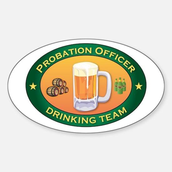 Probation Officer Team Oval Decal