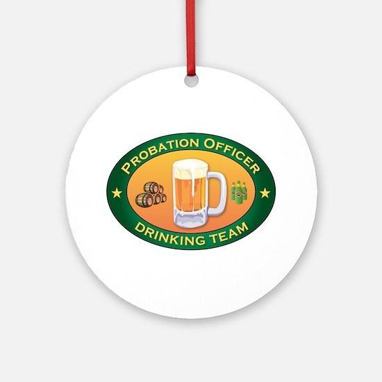 Probation Officer Team Ornament (Round)