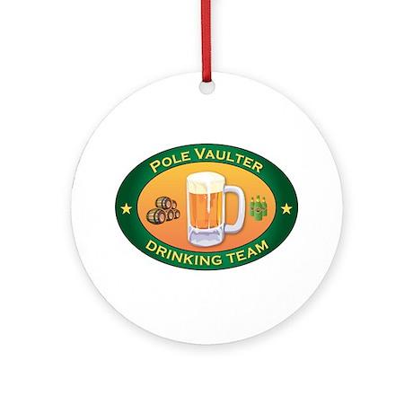 Pole Vaulter Team Ornament (Round)