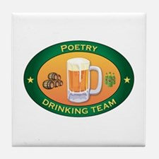 Poetry Team Tile Coaster