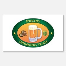 Poetry Team Rectangle Decal