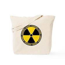 Radiation Warning Tote Bag