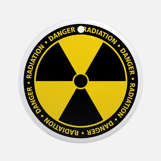Radiation Warning Ornament (Round)