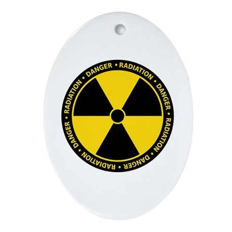 Radiation Warning Ornament (Oval)