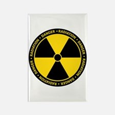 Radiation Warning Rectangle Magnet