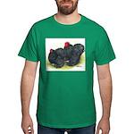 Black Frizzle Cochins2 Dark T-Shirt