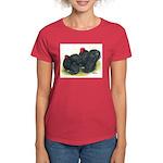 Black Frizzle Cochins2 Women's Dark T-Shirt