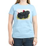 Black Frizzle Cochins2 Women's Light T-Shirt