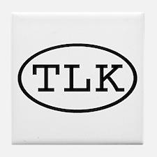 TLK Oval Tile Coaster