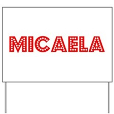 Retro Micaela (Red) Yard Sign
