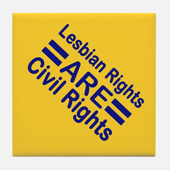 Lesbian Rights Tile Coaster