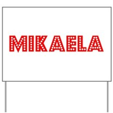 Retro Mikaela (Red) Yard Sign