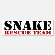 Snake Rescue Team Bumper Bumper Bumper Sticker