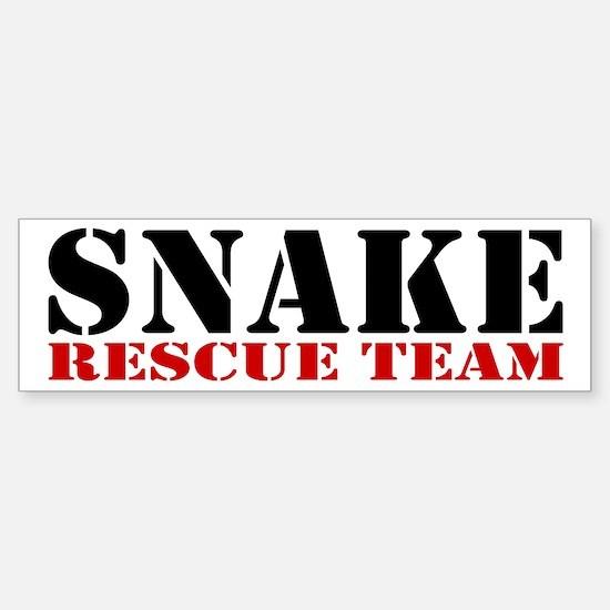 Snake Rescue Team Bumper Bumper Bumper Sticker