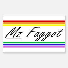 Mz Faggot Decal
