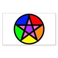 Gay Pagan Rectangle Decal