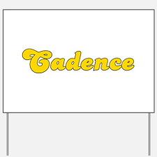Retro Cadence (Gold) Yard Sign