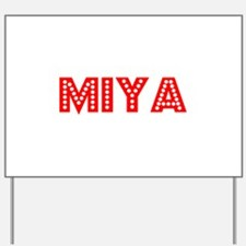 Retro Miya (Red) Yard Sign