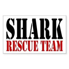 Shark Rescue Team Rectangle Decal