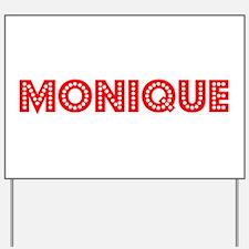Retro Monique (Red) Yard Sign