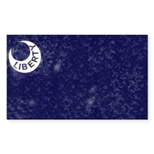 Historic Moultrie Flag Rectangle Decal