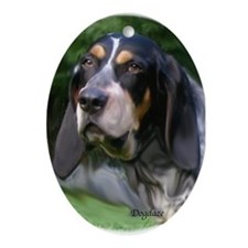bluetick coonhound Oval Ornament
