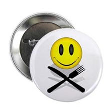 """Hungry Happy Face 2.25"""" Button (10 pack)"""