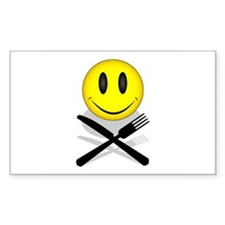 Hungry Happy Face Rectangle Sticker 10 pk)