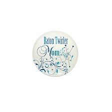 Baton Twirler Mom Mini Button