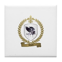 ALBERT Family Crest Tile Coaster