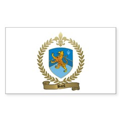 BARIL Family Crest Rectangle Decal