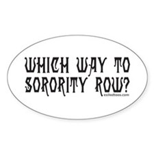 SORORITY ROW Oval Decal