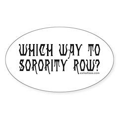 SORORITY ROW Oval Sticker (50 pk)