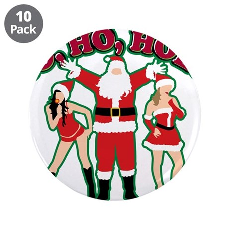 """Ho Ho Hoes 3.5"""" Button (10 pack)"""