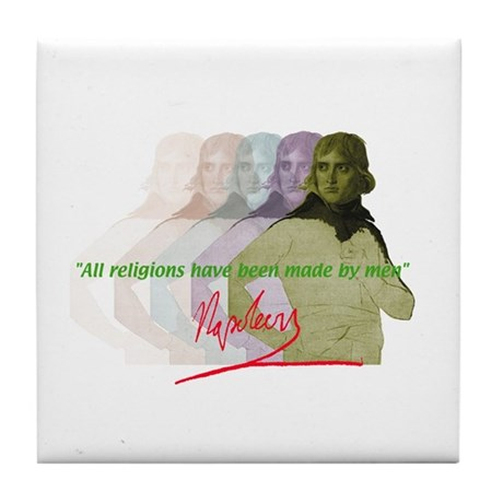 Napoleon quote Tile Coaster